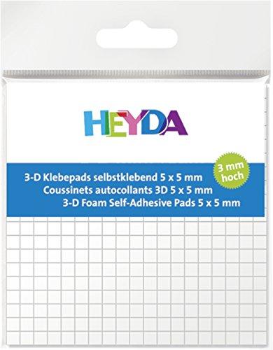 HEYDA 3-D Klebepads, 5 x 5 mm, wei , 3 mm hoch VE = 1