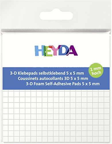 HEYDA 3-D Klebepads, 5 x 5 mm, wei , 1 mm hoch VE = 1