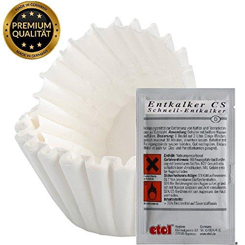 """1200 Filter in 80×200 Kaffee korbfilter Filtertüten Qualitätsfilter für Beem, Gastroback,Grind & Brew, Phillips & Saro """"Made in Germany"""""""