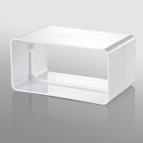 Krümmer/Bogen PVC für Lüftungskanal 110x55mm, 90° vertikal / 5252