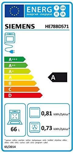 Siemens EQ961EV03B Backofen-Kochfeld-Kombination / A / 66 L / Schnellaufheizung / edelstahl