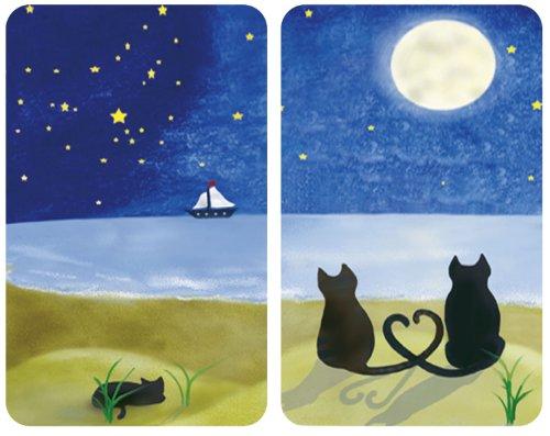 2er Set, für alle Herdarten, je 30 x 4,5 x 52 cm – WENKO 2521140500 Herdabdeckplatte Universal Katze