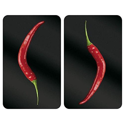 WENKO Abdeckplatte Universal 2er Set Ausführung: Hot Peperoni