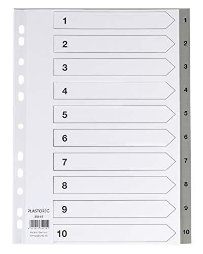 Top 9 Register PP, A4, 1-10 – Trennblätter