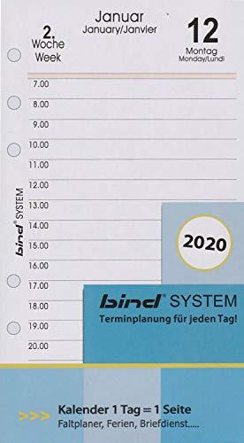 Top 10 Tageskalender 2020 A6 1 Tag 1 Seite – Nachfüll-Inlays
