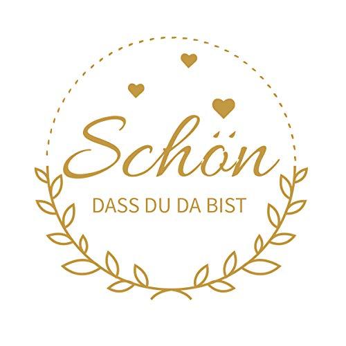 Top 10 Schön DASS DU DA BIST Aufkleber 3cm – Scrapbooking-Sticker