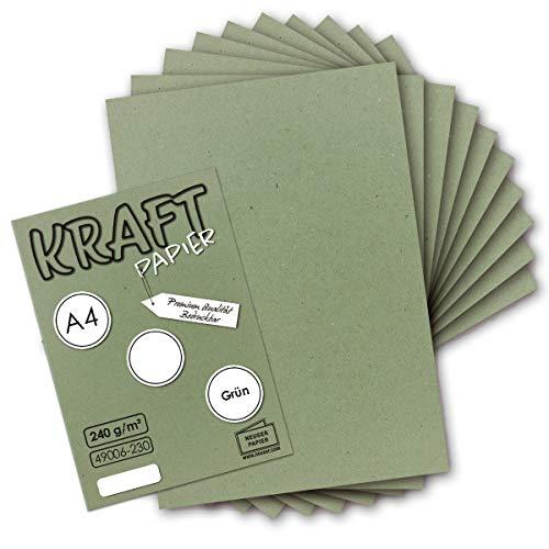Top 10 Kraftpapier grün A4 – Kartenkartons