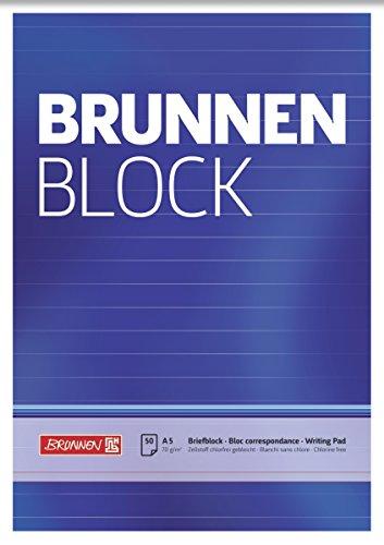 Top 8 Brunnen Block A5 Liniert – Briefblöcke