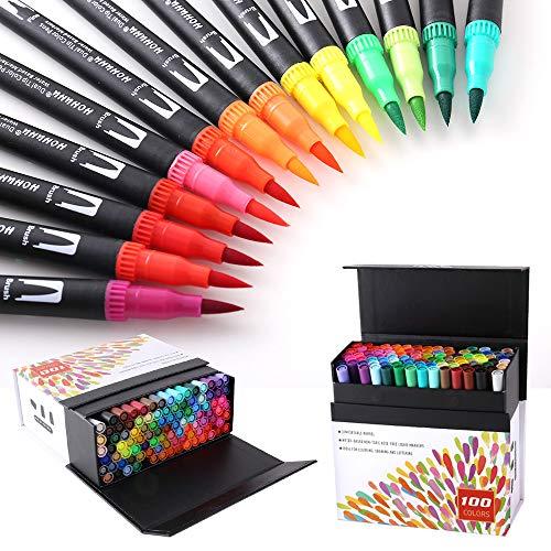 Top 10 100 Farben Dual Tip Brush und Pens – Fineliner