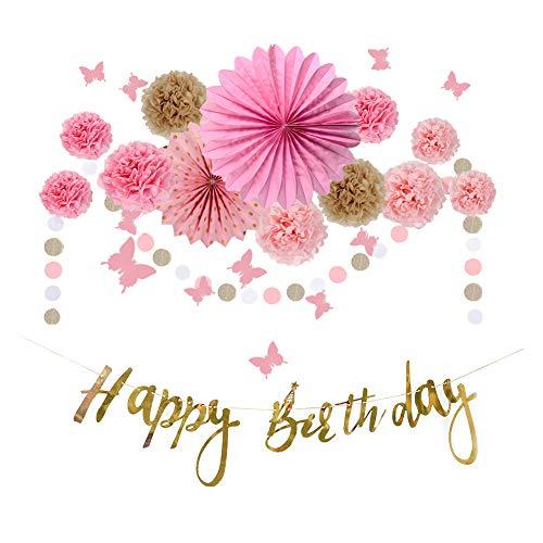 Top 10 Girlande Pink Geburtstag – Dekorpapier