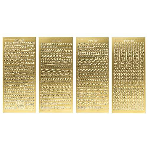 Top 10 Buchstaben Sticker Gold – Scrapbooking-Sticker